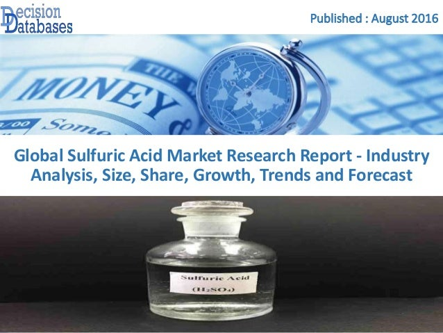 an overview of the sulfuric acid industry in ontario Sulfuric acid is one of the most important compounds made by the chemical industry it is used to make, literally, hundreds of compounds needed by almost every industry.