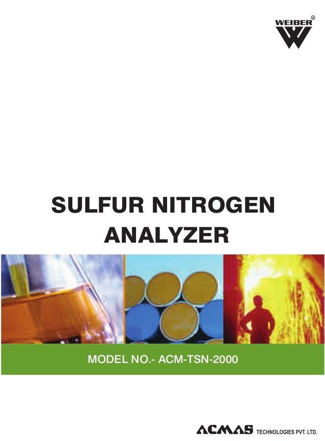 R  SULFUR NITROGEN ANALYZER  MODEL NO.- ACM-TSN-2000