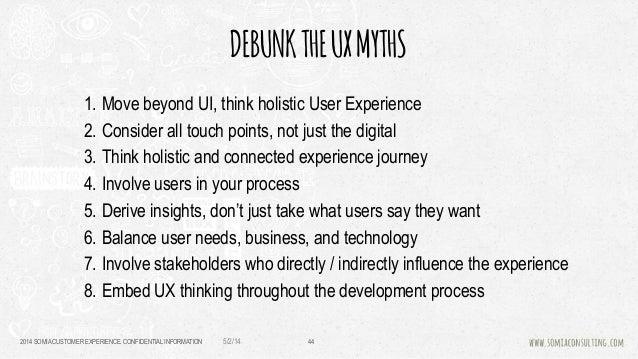 UX Myths - Brownbag session at GDP Venture