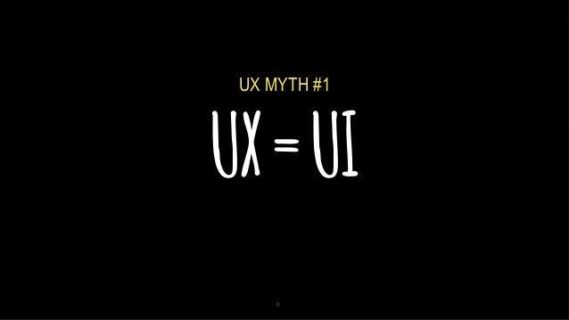 5/2/14 UX=UI 9 UX MYTH #1