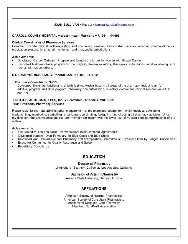 sullivan official resume