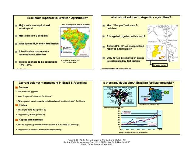 Sulphur fertilization in brazil and argentina sulphur world symposiu 3 is sulphur sciox Image collections
