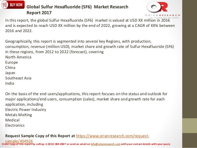 Sulphur hexafluoride global market size sciox Image collections