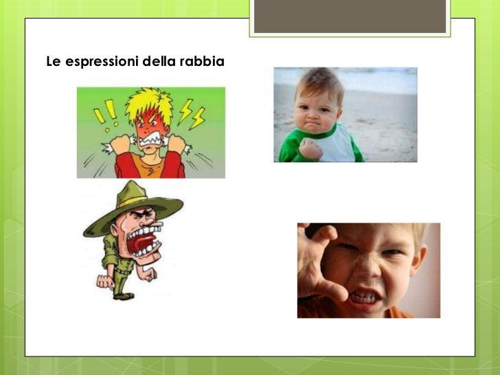 Le espressioni della rabbia