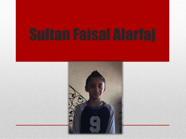 Sultan Faisal Alarfaj