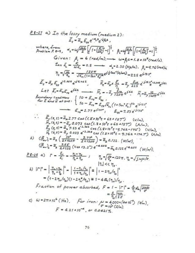 Sulucionario Electromagnetismo Cheng