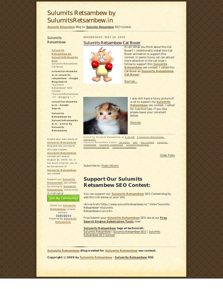 Sulumits Retsambew by SulumitsRetsambew.in Sulumits Retsambew Blog for Sulumits Retsambew SEO Contest   Sulumits          ...