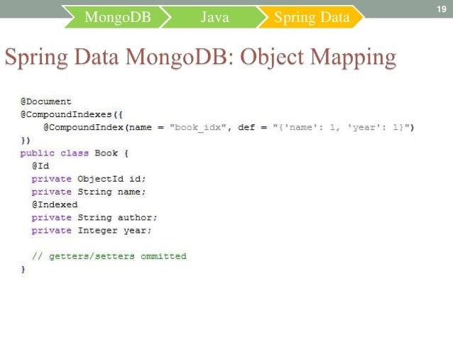 19MongoDB   Java   Spring Data