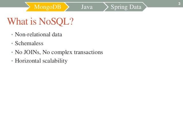 MongoDB + Java + Spring Data Slide 3