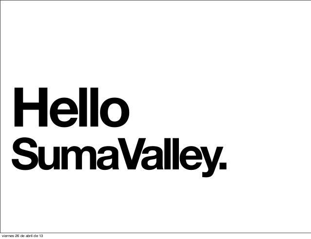 HelloSumaValley.viernes 26 de abril de 13