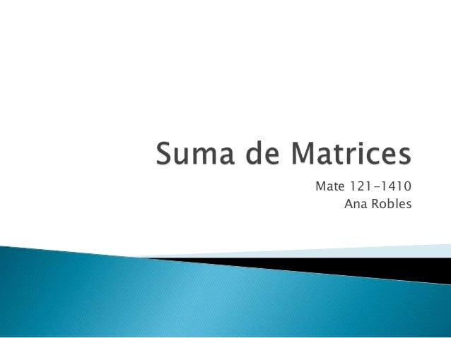 Mate 121-1410 Ana Robles
