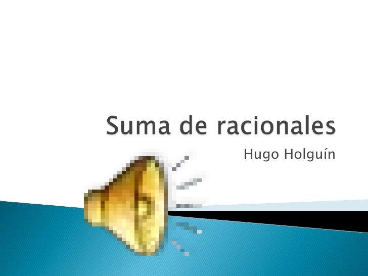 Hugo Holguín