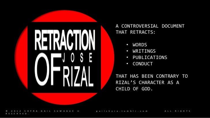 rizal u0026 39 s retraction  u0026 comparison of noli and fili