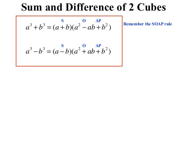 Sum and difference of 2 cubes 4 sum and difference of 2 cubes ccuart Image collections