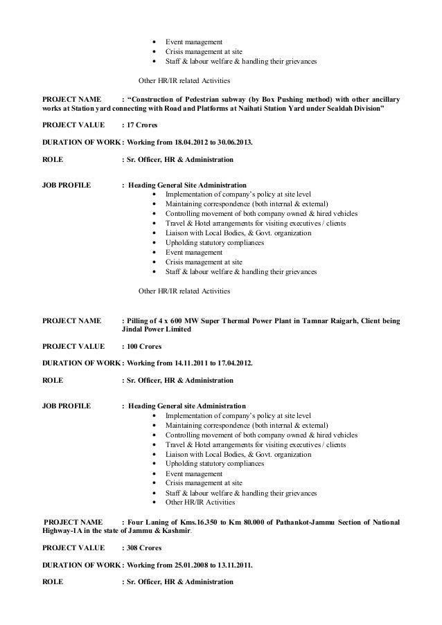 crisis management resume