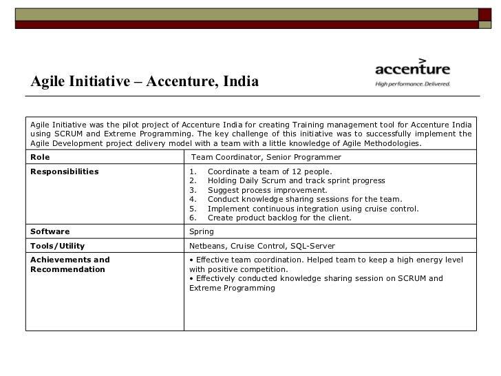 9. Agile Initiative U2013 Accenture ...