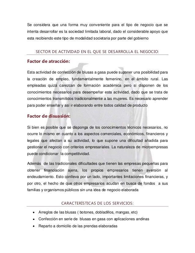 EMPRESA DE CONFECCION DE BLUSAS SUMAQ WARMI