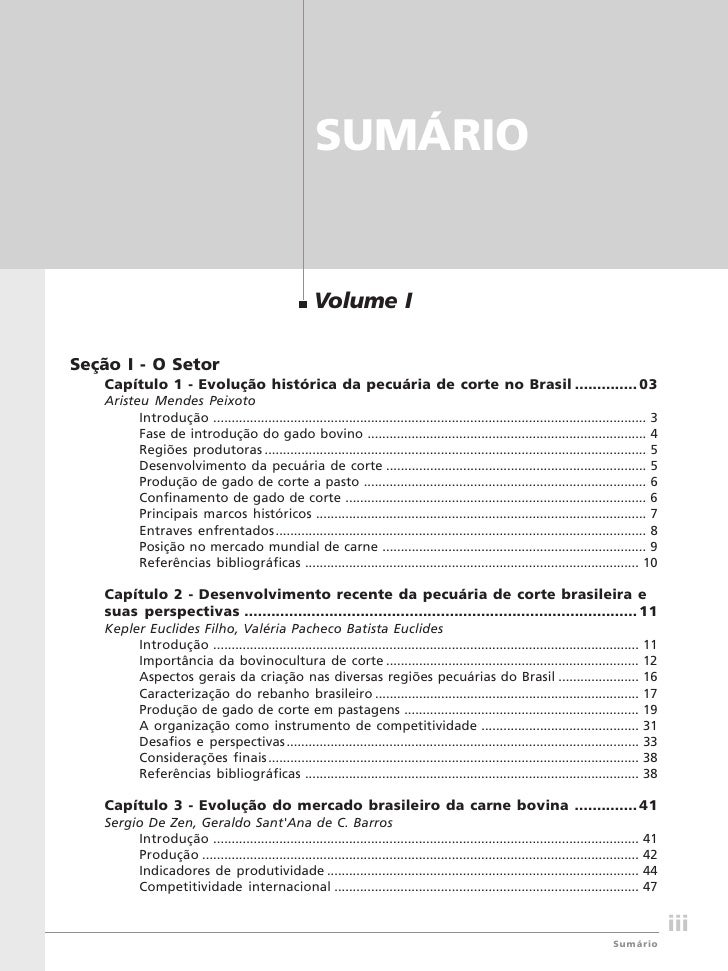 Bovinocultura de corte                                                            SUMÁRIO                                 ...