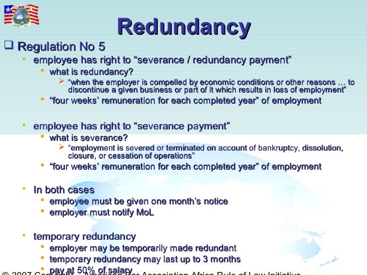 how to work out redundancy payment