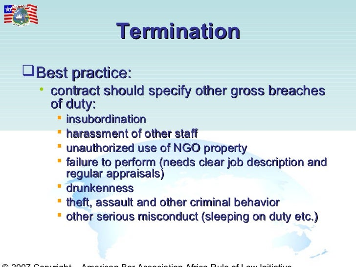 termination for insubordination
