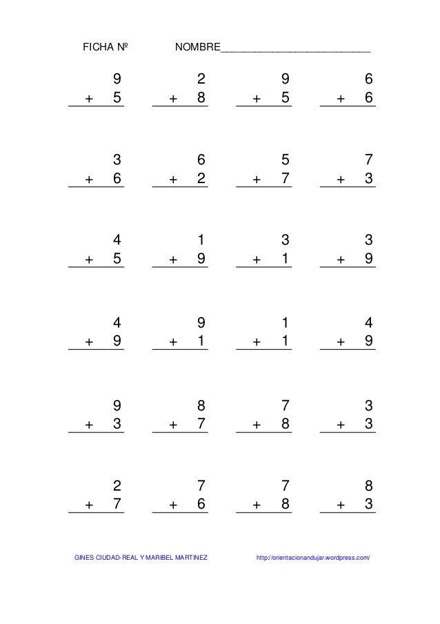 Sumas de-una-cifra-sin-llevada-1000-fichas-1