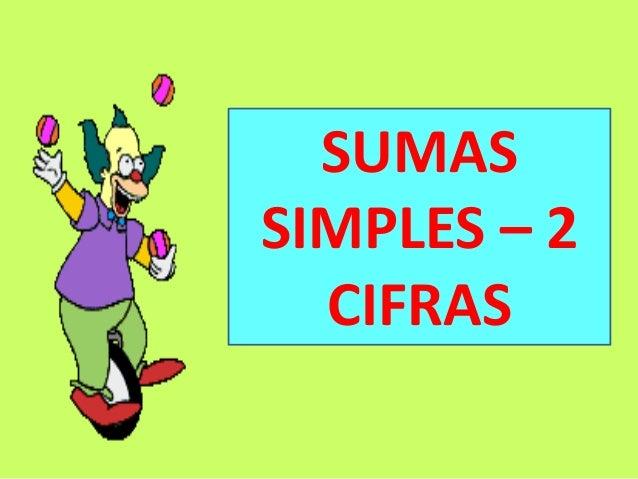 SUMAS SIMPLES – 2 CIFRAS