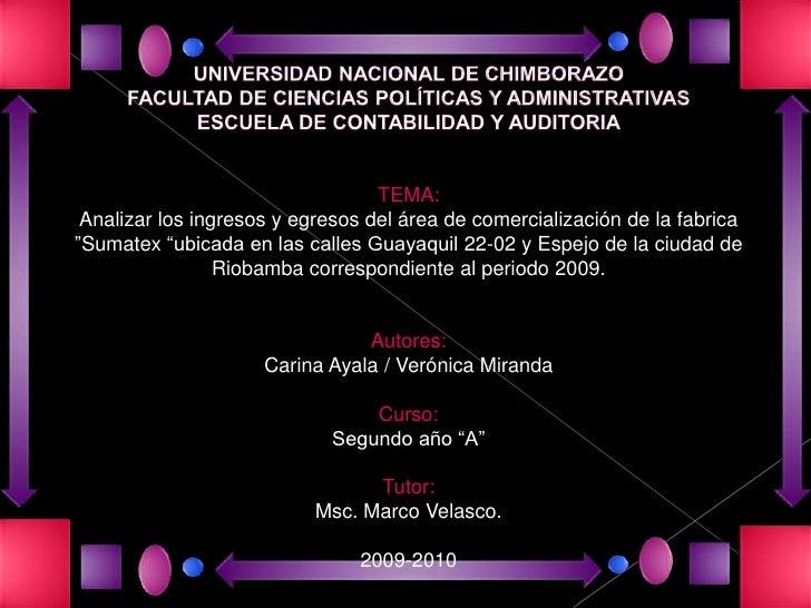 UNIVERSIDAD NACIONAL DE CHIMBORAZOFACULTAD DE CIENCIAS POLÍTICAS Y ADMINISTRATIVAS ESCUELA DE CONTABILIDAD Y AUDITORIATEMA...