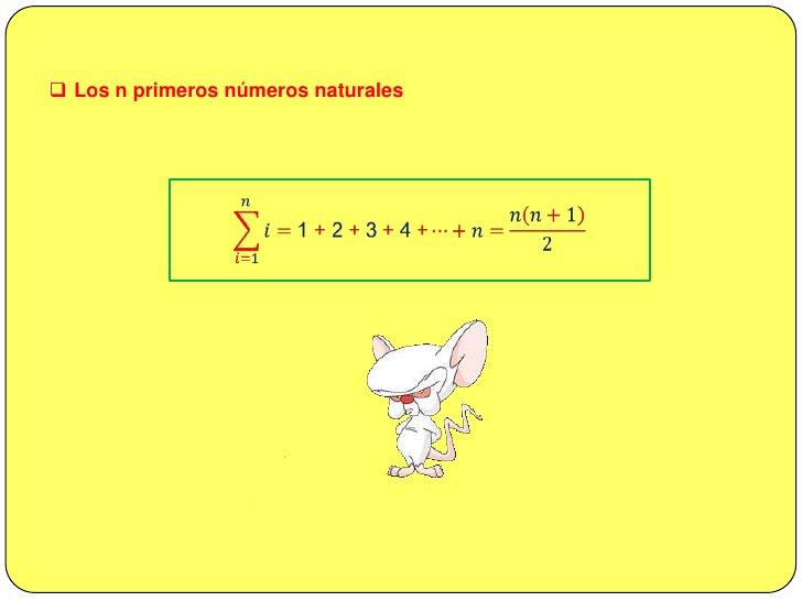 P3. La sumatoria en el que el término general es una suma algebraica ésta se puede descomponer en sumatorias independiente...