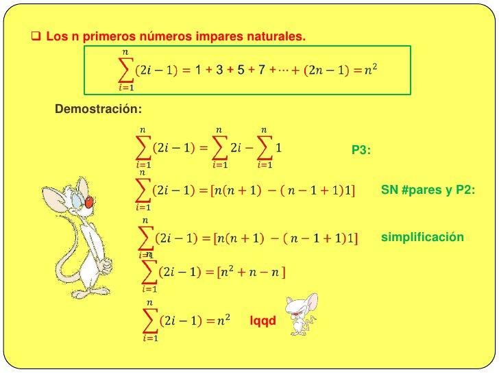 <ul><li>SUMATORIAS  NOTABLES</li></li></ul><li><ul><li>Los n primeros números naturales</li></ul>𝑖=1𝑛𝑖=1+2+3+4+…+𝑛...