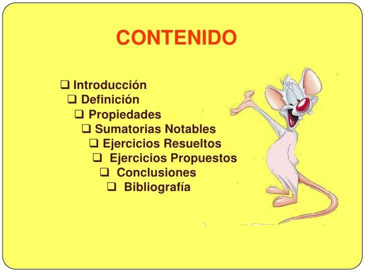 CONTENIDO<br /><ul><li>Introducción