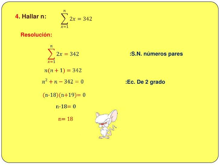 3. Calcular P , si P = 3 +24 + 81 + 192 +… + 8232<br />Resolución:<br />𝑃=3+24+81+192+…+8232<br /><br />:factorizando<br...