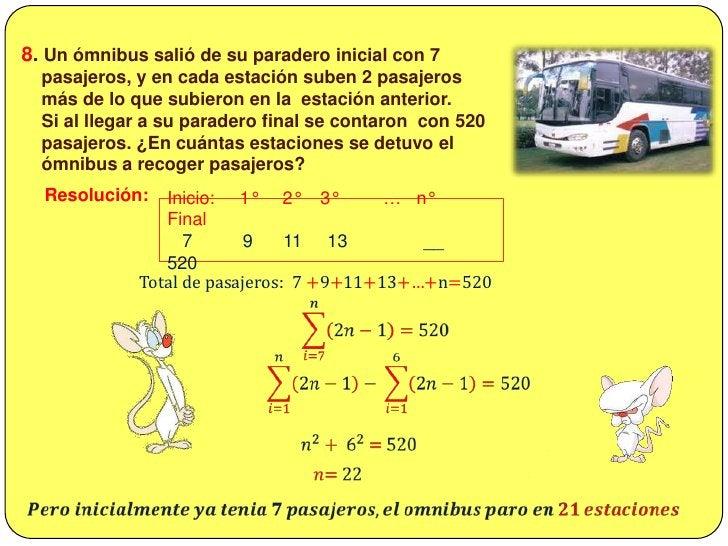 7. Se tiene: <br />𝑴𝑨𝑹=1+2+3+…+ 43<br /><br />1 +2 +3 +…+ 𝑹𝑴<br /><br /> Encontrar el valor de:  <br />Resolución:<br />...