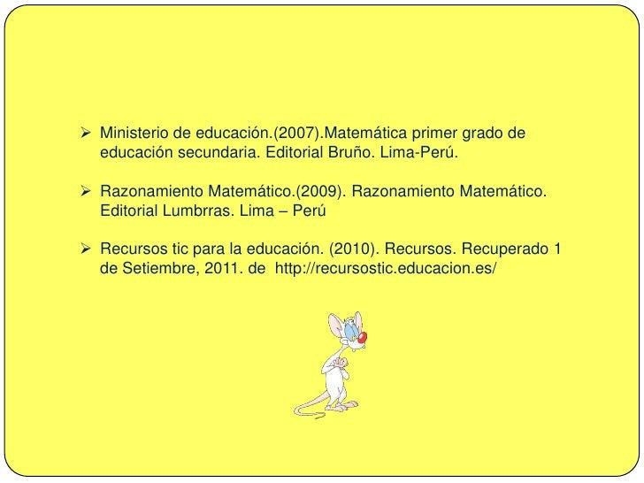Razonamiento Matemático.(2009). Razonamiento Matemático. Editorial Lumbrras. Lima – Perú