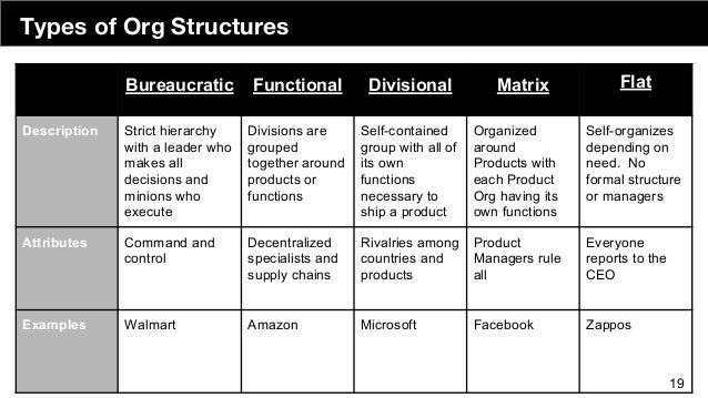 Org Structures 18 19