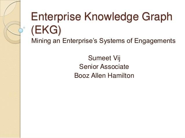 Enterprise Knowledge Graph(EKG)Mining an Enterprise's Systems of Engagements                 Sumeet Vij              Senio...