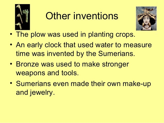 inventions of the sumerians -- created using powtoon -- free sign up at -- create animated videos and animated presentations for free powtoon is a free.