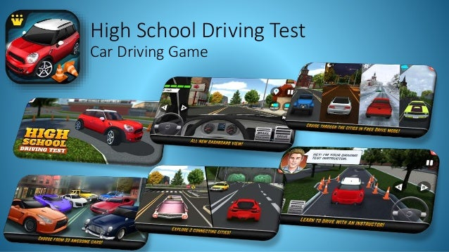 high school driving test game