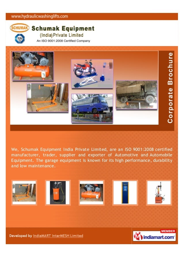 We, Schumak Equipment India Private Limited, are an ISO 9001:2008 certifiedmanufacturer, trader, supplier and exporter of ...