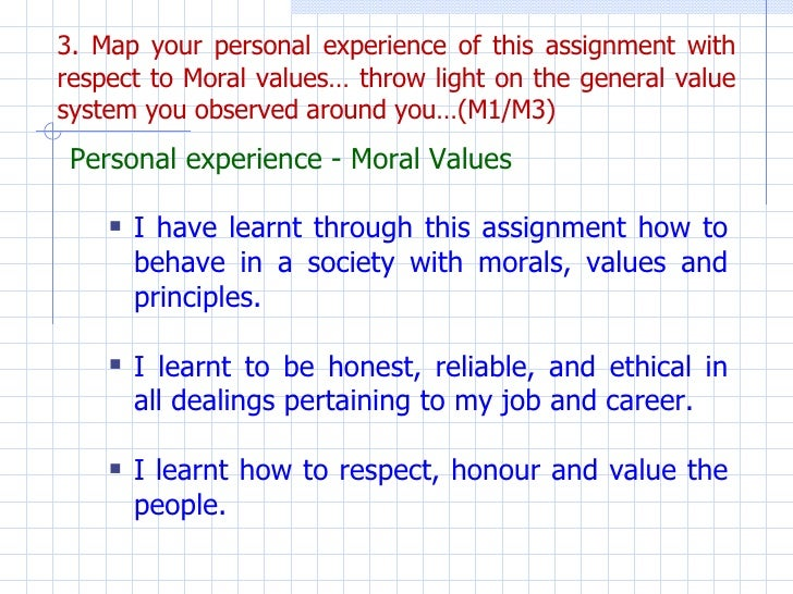 my personal values essay