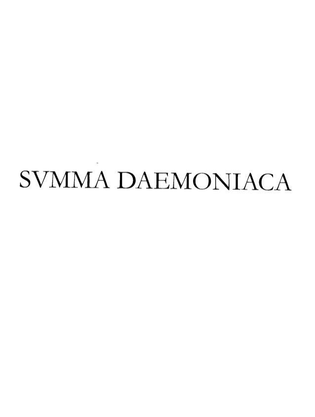 Summa daemoniaca 2004 fortea j.a