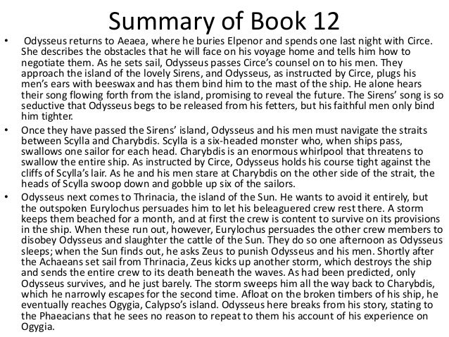 the odyssey book 11 short summary