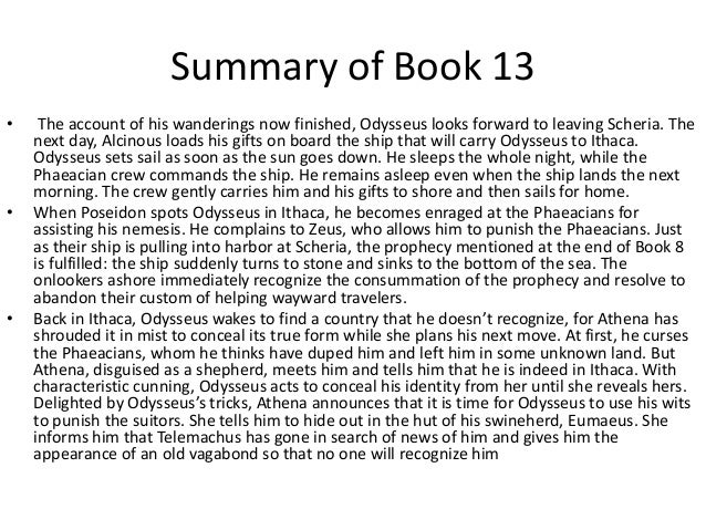 Book summaries for the odyssey