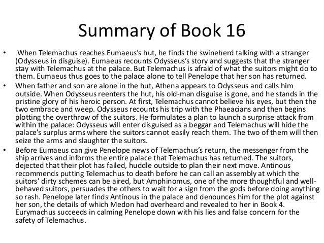 The odyssey book 16 summary