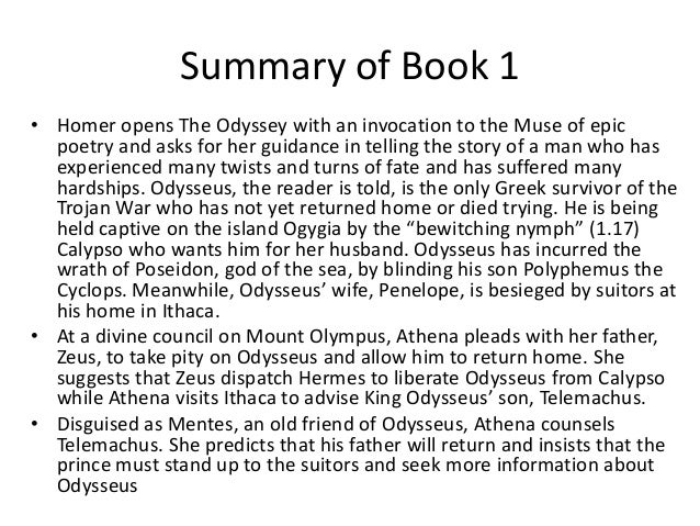 the odyssey book summaries short