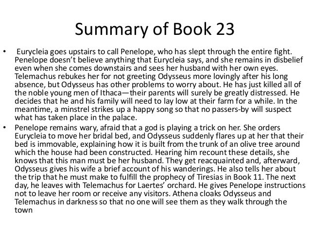 The odyssey book 22 summary