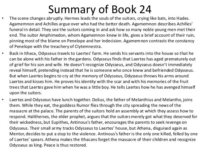 the odyssey book 24 summary