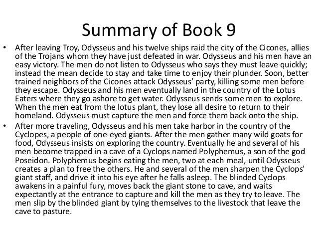 book 9 summary