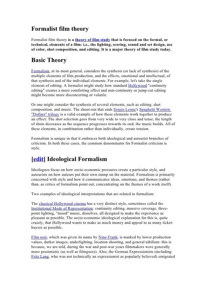 Summarised Theory List