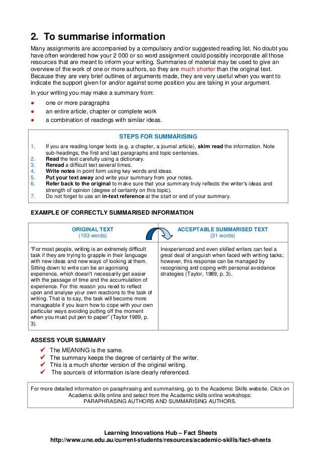 Summarising and Paraphrasing_Notes Slide 2