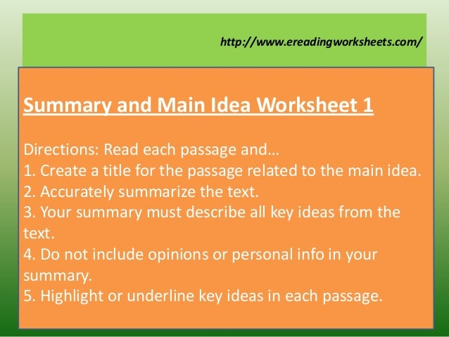 Summary and paraphrase powerpoint
